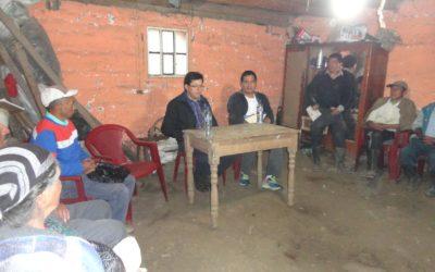 Visita de José Chira a las comunidades de San Antonio